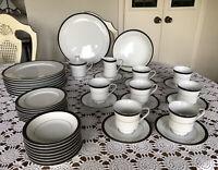 INTERNATIONAL FINE CHINA-JAPAN-REGINA 6097-DINNERWARE SET FOR 8 - 43 Pieces