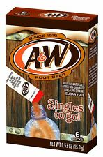 A & W ON-THE-GO Sugar Free ORIGINAL ROOT BEER Powdered DRINK (6 Packet x 3 Box)