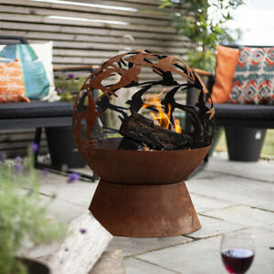 La Hacienda Swallows Globe Oxidised Fire Bowl
