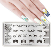 NICOLE DIARY Nail Art Stamping Plates Stamp Templates Necklace Crown Flower Leaf
