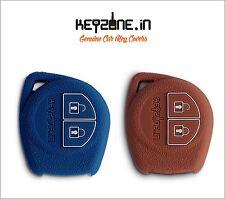 KeyZone Silicone Key Cover for Suzuki Ciaz, Baleno, S-Cross (Cognac+Blue) 2pc.