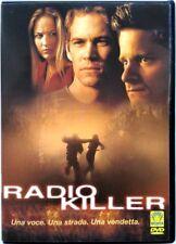 Dvd Radio Killer con Paul Walker 2001 Usato