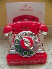 Hallmark 2013 Santa's Hotline Telephone Magic Sound Christmas Ornament