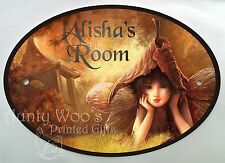 Personalised Door Signs/ Plaques Garden Autumn Fairy Angel Name Number Memorial
