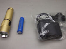 Ultrafire CREE LED  GOLD RECHARGEABLE Flashlight 14500 Battery +belt Clip
