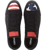 Converse Chuck Taylor All Star USA Flag Toe Cap Black Oxford Sneakers Stars Bars