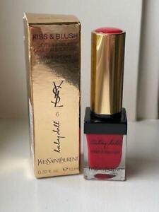 NIB YSL Baby Doll Kiss & Blush for Lips and Cheeks 6 ROUGE LIBERTINE 0.33 oz