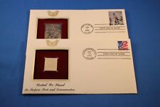 22kt Golden Replica Of The USPS Stamps First Day Issue. 9/11 lot of 2