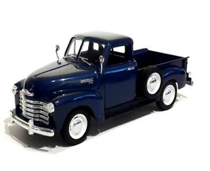 1953 CHEVROLET 3100 PICK UP in Blue  - 1:24 Die-Cast Classic Truck Model Welly