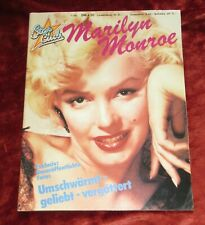 Star Club Marilyn Monroe Scarce German Magazine 1980