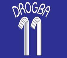 Drogba #11 Chelsea 2006-2008 Home Champions League Football Nameset for shirt