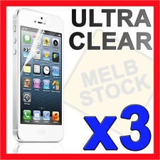 3 x Ultra Clear LCD Screen Protector Film Guard for Apple iPhone 5S 5C 5 SE