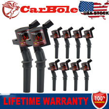 Black DG508 Set of 10 Ignition Coils For Ford F150 F250 F550 4.6L 5.4L Newly