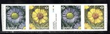 VC793 CANADA STRIP OF 4 COILS WITH TAB IN CENTER, MINT NH VF FLOWERS