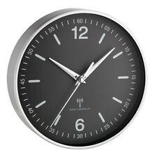 Horloge murale radio-pilotée Locarno 195 mm aluminium verre véritable TFA