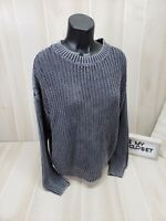 Victoria's Secret PINK Sweater Small Gray Pullover Crew Slouchy Cable Knit New