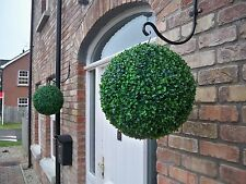2 Best Artificial 35cm Green Boxwood Buxus Topiary Balls Hanging Grass Garden