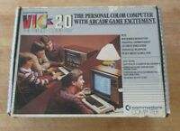 Commodore Vic-20 Personal Home Computer with Original Box, Power RF, & Guide