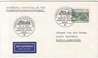 Germany 1970 1st Flight Frankfurt-Naples Slogan Cancels Stamps Cover Ref 26627