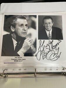 Pat Riley Signed Autographed Cut Signature Auto Lakers Heat Coach