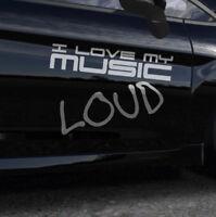 Auto Aufkleber Musik Laut Sticker A116  OEM JDM Aufkleber Sticker Decals Scheibe