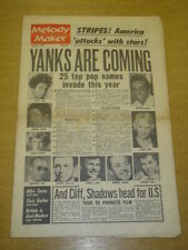MELODY MAKER 1962 JULY 21 JOHNNY MATHIS PEGGY LEE CLIFF RICHARDS SHADOWS JAZZ +