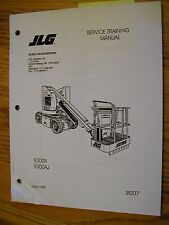 JLG E300A E300AJ SERVICE TRAINING REPAIR SHOP MANUAL Boom Lift LUBE MAINTENANCE