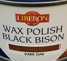 Liberon Negro bisonte cera Pasta Polaco Roble Oscuro 500ml