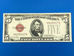 1928 F $5 United States Legal Tender Note Small Size Currency FR 1531