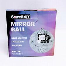 "SoundLAB Lightweight Silver Mirror Dance Disco Party DJ Ball 150mm 6"""