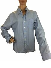 Abercrombie & Fitch Mens Polo Shirt Button Down Cotton Long Sleeve Dress Shir M