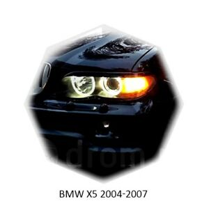 For BMW X5 E53 1999-2006 Eyebrows Eyelids Headlight Cover 2pcs Set