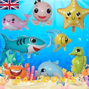 Under the Sea Party Themed Balloons Fish Baby Shark Seahorse Starfish Whale Kids