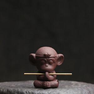 creative home decoration yixing zisha tea pet monkey statue small tea play new
