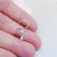Ringe rund schwarz Design Ohrringe Ohrstecker Creolen 925 Sterling Silber neu