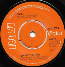 THE SWEET - FOX ON THE RUN / MISS DEMEANOUR - ORIGINAL BRITISH 70s GLAM ROCK