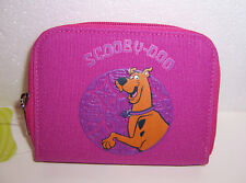 SCOOBY DOO PINK ZIPPERED Snap WALLET COIN Change PURSE ID Card Case Tote NEW!