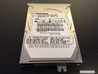 Toshiba Qosmio G30 Ersatzteil: Festplatte 120GB SATA 2,5 Zoll MK1234GSX + Rahmen