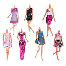 7Pcs Wedding Dresses Party Gown Clothes Outfits For Barbies Girls Lovely JX