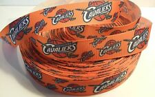 "Cleveland inspired 7/8"" Orange Grosgrain Ribbon - By The Yard - USA Seller"