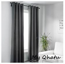"IKEA Merete Curtains Gray 2 Panels 57 ""x 98 "" 302.568.48  NEW"