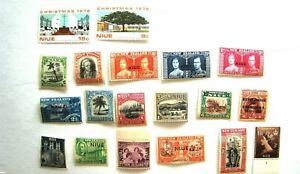 UNCHECKED SELECTION OF EARLY NIUE MNH STAMPS.  LOT#55