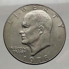 1978  President Eisenhower Apollo 11 Moon Landing Dollar USA Coin Denver  i46236