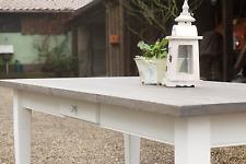 Tisch Esstisch Massivholz Landhaustisch M01 180 cm weiss/ grau Treibholzoptik