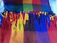 NEW Faribo Vintage Luxury Blanket Siesta Fringed Throw Plaid Wool 60 x 70