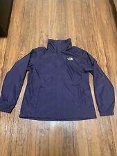 The North Face Dryvent Lightweight Hooded Rain Jacket Coat Womens Large Purple