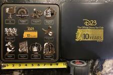 D23 2019 Disney Gold Member Exclusive-10 Year Anniversary Collector Pins/various