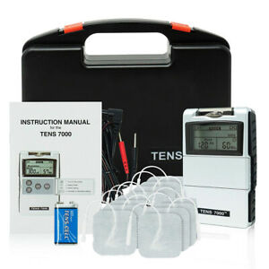 TENS 7000 2nd Edition Digital Unit Electric Massage Pulse Relief - 8 Extra Pads