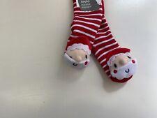 Los Bebés Calcetines De Navidad Con Sonajeros BNWT