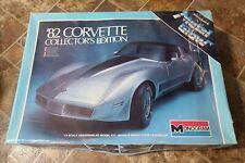 1982 Monogram 1/8 Scale Corvette Model Collectors edition